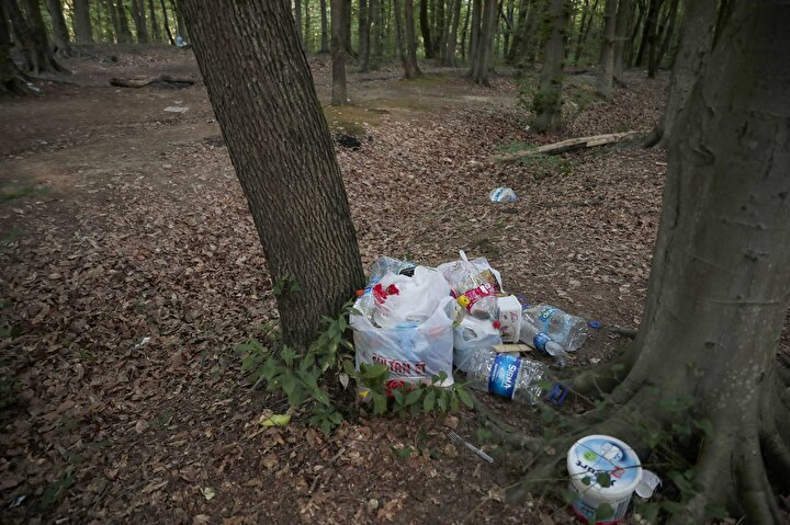 Belgrad Ormanını çöplüğe çevirdiler