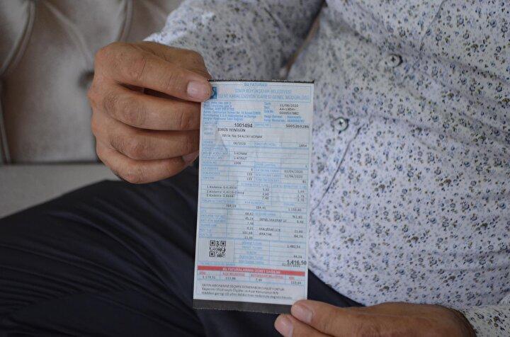 İnternet üzerinden belirlenen su faturasını ödemesine rağmen bin 415 TLlik su faturasıyla karşılaştığını dile getiren vatandaşlardan İdris Yenigün (47), faturayı nasıl ödeyeceğini bilmediğini belirtti.