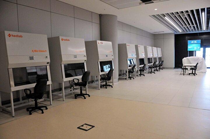 İstanbul Havalimanında koronavirüs test merkezi kuruldu