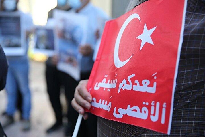 Şeyh Recebi, Ayasofya kararının doğru bir karar olduğunu vurgulayarak, buna karşı çıkanların Kudüs ve Filistin'i temsil etmediğini söyledi.