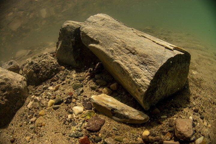 Yamula Barajı kıyısında en büyük ve tek parça halinde bulunan dev fosilden sonra su altı fotoğrafı konusunda yaptığı çalışmalarla tanınan Obruk Mağara Araştırma Grubundan Ali Ethem Keskin ile Turkuaz Arama-Kurtarma Ekibi tarafından su altında yapılan çalışmalar sonucu kara canlısının fosiline ulaşıldı.