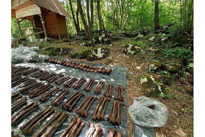 Hırvatistanda, İkinci Dünya Savaşından kalma toplu mezarda 814 kişinin kalıntısına ulaşıldı