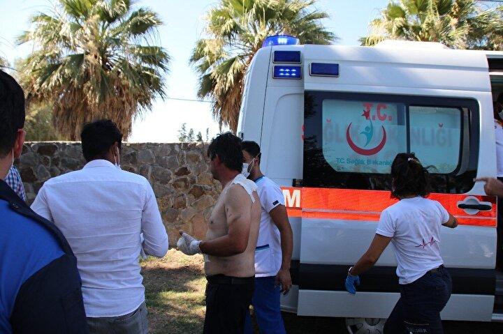 Yangına müdahale eden çoğunluğu otel personeli 15 kişi olay yerine gelen ambulanslarla ilçedeki çeşitli hastanelere sevke diledi.