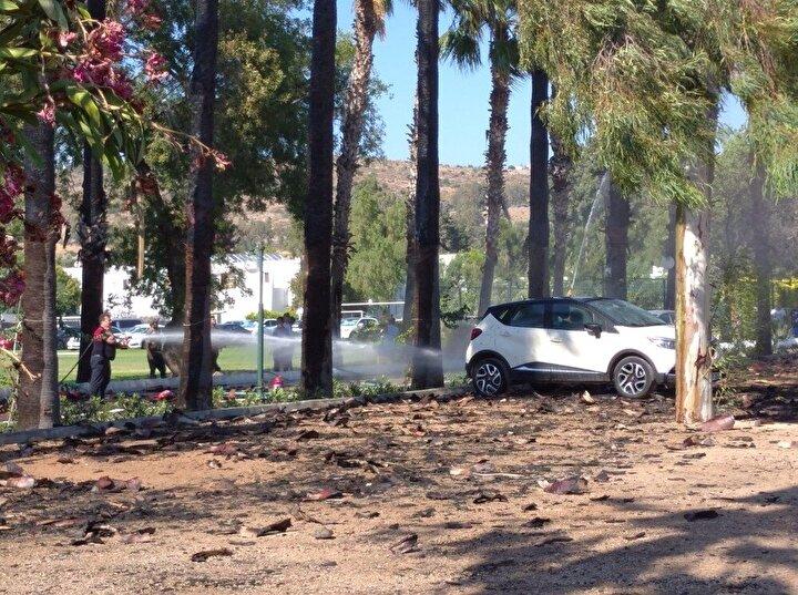 Yangına müdahale eden herkes yandı 15 yaralı