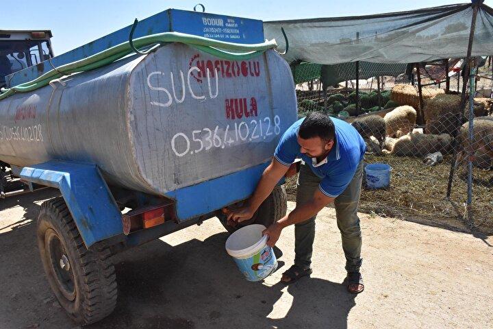 El ve yüz temizliklerini sağlamak için kovalarla su taşıdıklarını dile getiren Ömer Yaylacı da gün içinde tankerle su dağıtıldığını ancak yetersiz kaldığı için su alamadıklarını anlattı. Yaylacı, Biz hayvanların suyuyla duş almaya çalışıyoruz burada. Tanker boş geliyor. Hayvanlarımızın susuzluğu bir yandan kendi susuzluğumuz bir yandan. Biz burada rezil olduk. Yürüyerek gidiyoruz benzinliğe tuvalet ihtiyacını karşılamaya. Biz çok mağduruz burada diye konuştu.