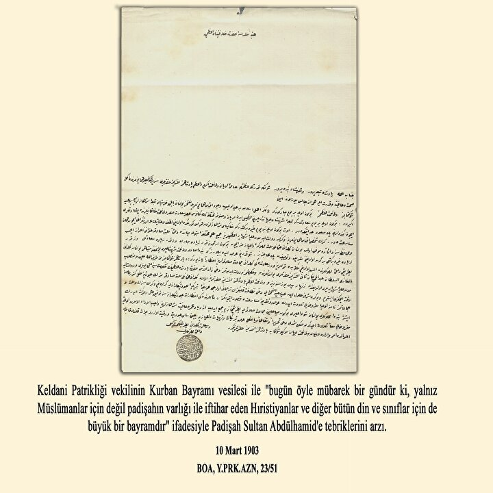 10 Mart 1903 tarihli belge ve tercümesi