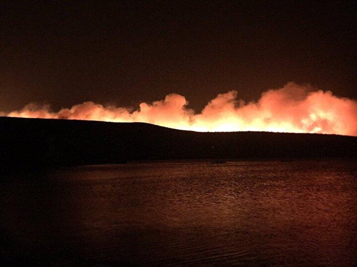 Edinilen bilgiye göre yangın Ildır Mahallesi'nde bulunan otluk alanda henüz bilinmeyen bir sebeple çıktı.