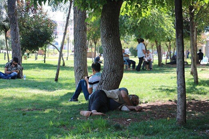 Türkiye'nin en sıcak illerinin başında gelen Şanlıurfa'da, sıcak hava yaşamı olumsuz etkiliyor.