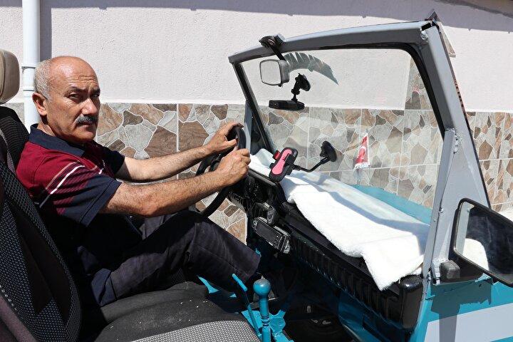 Serinhisarın Yatağan Mahallesinde yaşayan evli ve 2 çocuk babası Hüseyin Kocakaya(52), boş vakitlerini değerlendirmek için otomobil yapmaya karar verdi.
