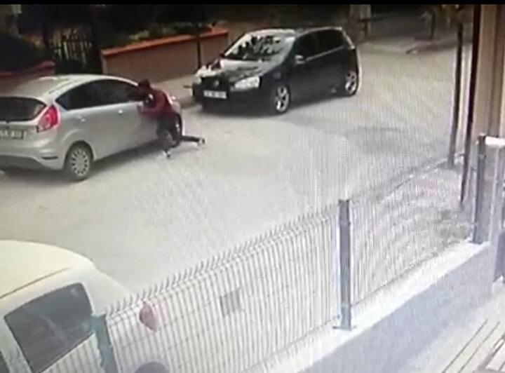 Öte yandan C.K.nin iş yeri ve araçlardan hırsızlık yaptığı anlar ise güvenlik kameralarına yansıdı.