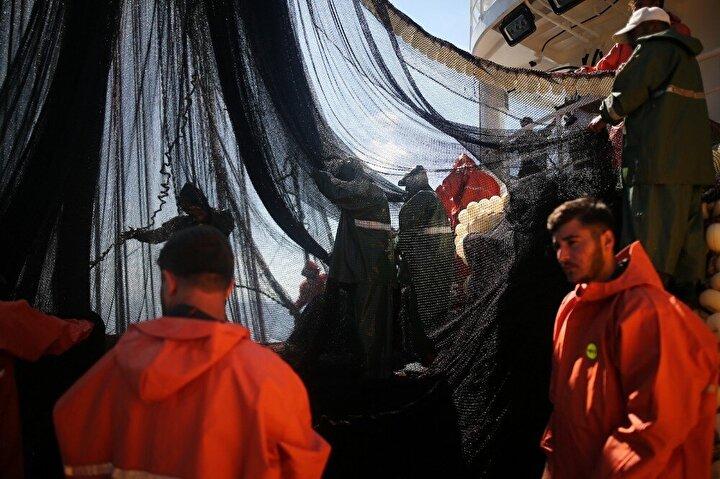 Anlaştıkları firmalar, başka bir gemiyle ayaklarına kadar gelip, denizin ortasında, tuttukları balıkları teslim alıyor.Bu sene dünyayı kasıp kavuran korona salgınından dolayı mart sonlarına doğru av mevsimini erken bitirmek zorunda kalan balıkçılar, 1 Eylül itibariyle tekrar denize açıldı.