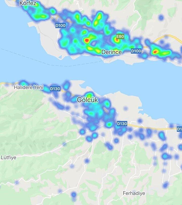 Türkiyenin il il koronavirüs yoğunluk haritası
