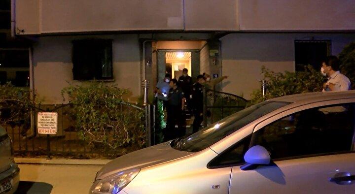 Ailesi içeride olduğu sırada babası polis memuru L.D.'ye ait evi kundaklayan kişi, ticari taksiye binerek olay yerinden kaçtı.