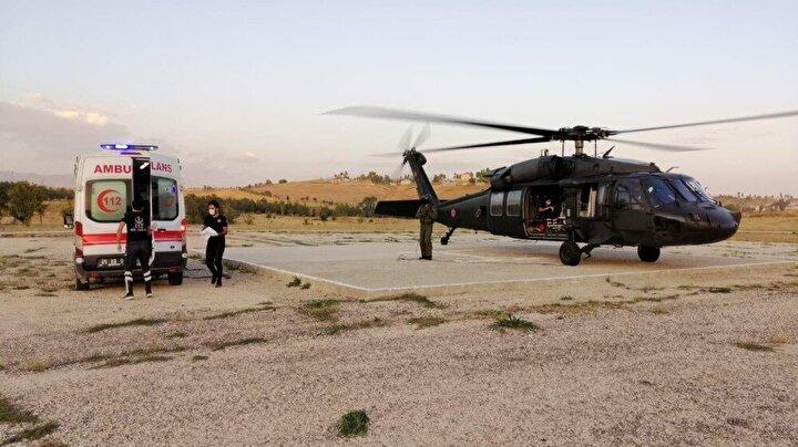 Bebeğin bindirilmesi sonrası Erciş ilçesinden havalanan helikopter, kısa sürede Batman'a ulaştı.