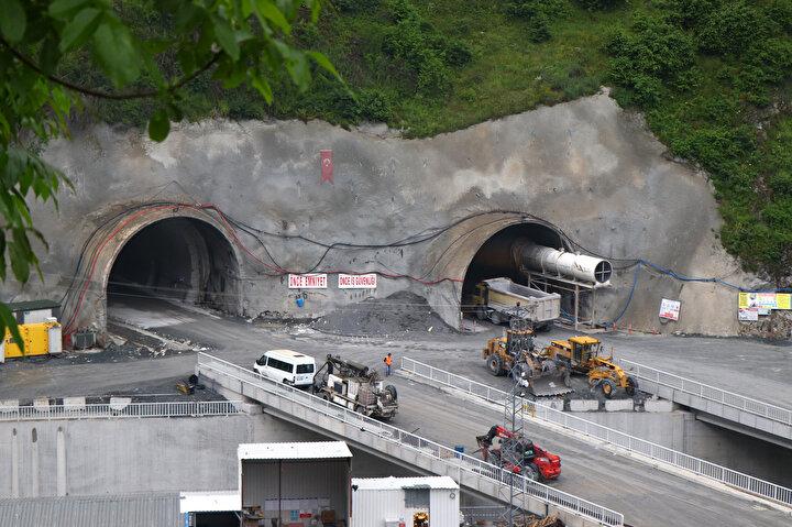 Avrupanın en uzunu olacak Zigana Tünelinin yüzde 74ü tamamlandı