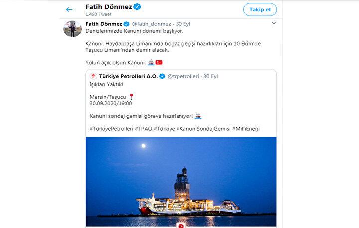 Enerji ve Tabii Kaynaklar Bakanı Fatih Dönmez, mart ayında yaptığı açıklamada, 35 Türkiye Petrolleri Anonim Ortaklığı personeliyle Türkiyeye giriş yapan Kanuniye koronavirüs tedbirleri çerçevesinde giriş ve çıkışın yasak olduğunu, Covid-19 önlemleriyle ilgili sürecin tamamlanmasının ardından geminin bakım, güncelleme ve geliştirme sürecinin başlayacağını açıkladı.