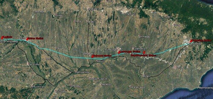 Ulaştırma ve Altyapı Bakanlığı tarafından geçen yıl haziran ayında yapımına başlanan Halkalı-Kapıkule Demir Yolu Hattı Projesi'nde çalışmalar hız kesmeden devam ediyor. Projenin 153 kilometrelik kısmını oluşturan Çerkezköy-Kapıkule demir yolu hattında çalışmalar yoğunluk kazandı. Avrupa ülkeleriyle yüksek standartlı demir yolu bağlantısını sağlayacak, Halkalı-Kapıkule demir yolu projesinin ilk etabı Çerkezköy-Kapıkule arası, ikinci etabı ise Halkalı-Çerkezköy arası olacak.