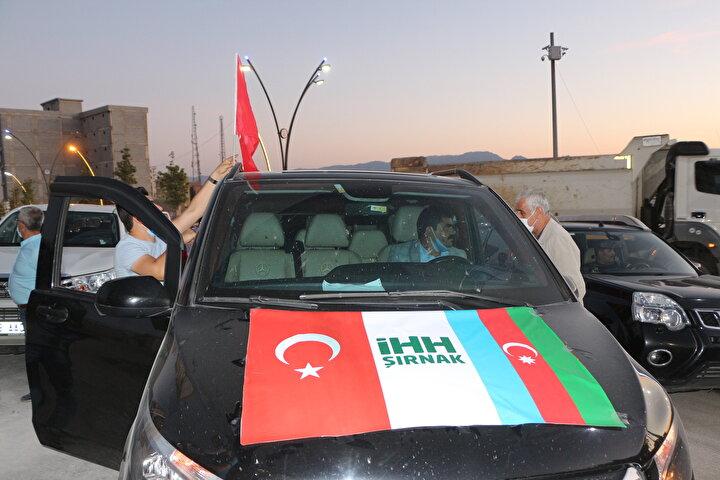 Şırnakta Azerbaycana destek eylemi