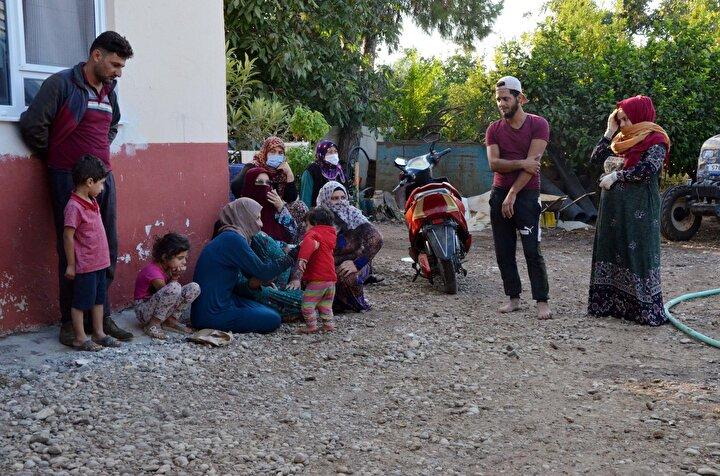 Ailenin evde bulunmadığı sırada konteynerde henüz bilinmeyen nedenle yangın çıktı. Yangını gören çevredekiler bağırarak yardım isterken, sesleri duyan Suriyeli aile de yangını fark edip, koşarak eve geldi.