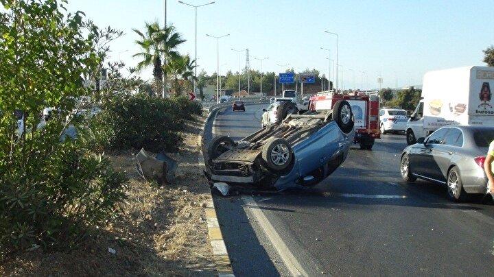 Otomobilden kendi imkanlarıyla çıkan sürücü Hasan Emre Karabacak, olay yerine gelen 112 sağlık ekibi tarafından ambulansa alınarak kontrolü yapıldı. Kendisinin bir şeyi olmadığını belirten Karabacak, hastaneye gitmeyi kabul etmedi.