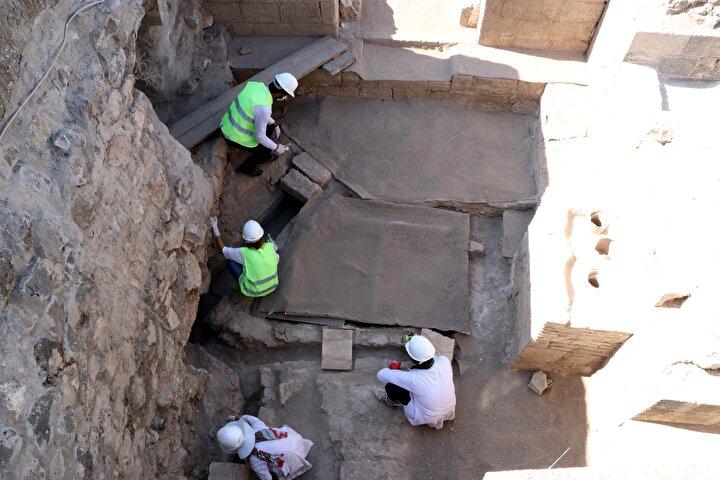 Amida Höyükteki kazılarda 1800 yıllık kalorifer sistemi bulundu