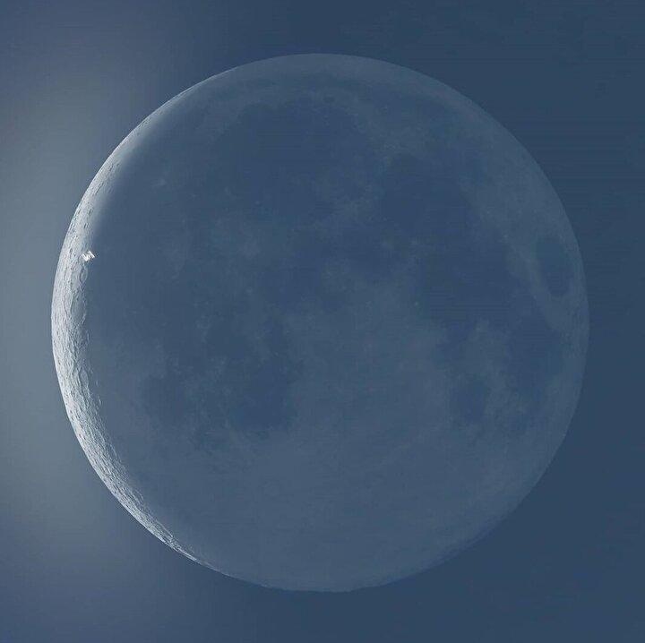 ISS'in Güneş ve Ay'ın önünde geçtiği anlar görüntülendi