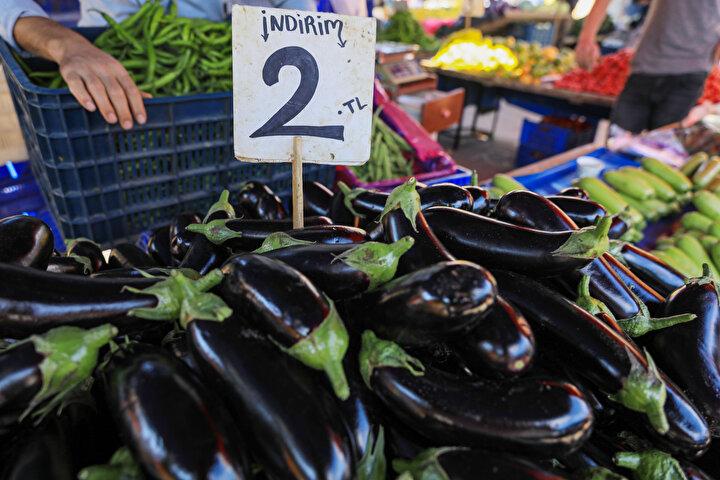 Geçen yılın aynı ayında domateste yüzde 52,78, sebzede yüzde 42,15, meyvede ise yüzde 33,73 yıl bazında azalma olduğu görüldü.