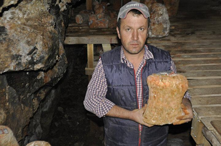 Divle obruk peyniri alırken nelere dikkat edilmesi gerektiğini anlatan Durna, Divle obruk peyniri alırken tüketicinin mutlaka dikkat etmesi gereken bazı noktalar var. Alınan derinin mutlaka kırmızı renkte olması gerekir. Ancak derinin kırmızı olması demek tek başına orijinal olduğunu göstermiyor. Alınan peynirlerde coğrafi konum işareti, barkodu, Divle köy muhtarlığının etiketi ve ürünün yanında verilen üretim tescil belgesinin olması gerekiyor. Üretim tescil belgelerini biz burada obruktan çıkan her ürünle birlikte veriyoruz. Şu an piyasada sahteleri çok tüketiliyor. Vatandaşımızın bu noktalara dikkat etmesini özellikle rica ediyoruz dedi.