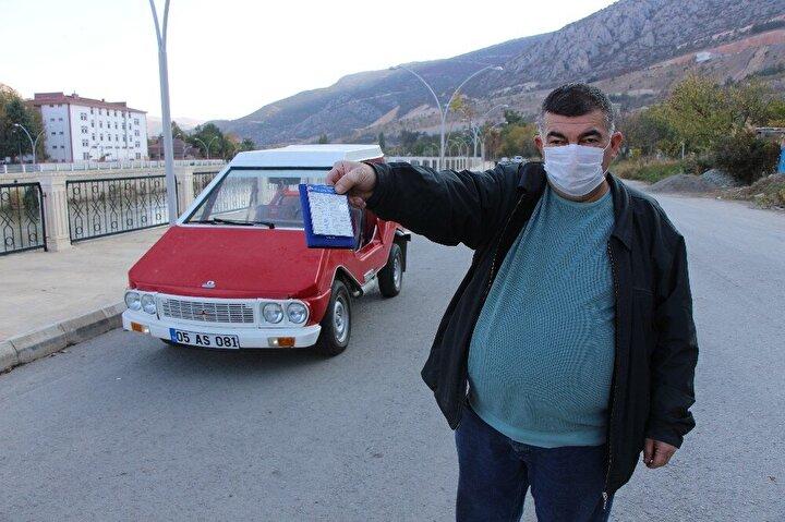 Aracın sahibi Tunç Uyarer,  tıkır tıkır çalışan Anadol için rekor ücret istedi bin lira bile aşağısına satmayacağını ifade etti.