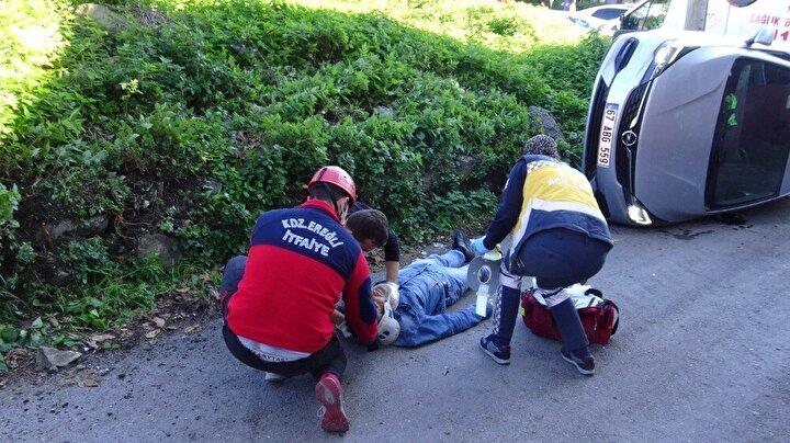 Olay yerine ilk olarak gelen Kdz. Ereğli Belediyesi İtfaiye Müdürlüğü ekipleri yaralıya ilk müdahaleyi yaparak kaza yerinde gerekli tedbirleri aldı. Daha sonra olay yerine gelen 112 sağlık görevlileri yaralıya gerekli müdahaleyi yaptıktan sonra ambulansla hastaneye kaldırdı. Yaralının sağlık durumunun iyi olduğu öğrenildi.