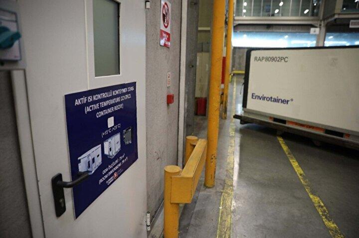 Turkish Cargo, aşı, ilaç ve ısı kontrollü yük taşımacılığında artan talebe cevap verebilmek için ilave 1200 m2 alana sahip ısı kontrollü akıllı depoyu devreye aldı. Ayrıca sektörün en büyük aktif konteyner tedarikçileri ile yapılan anlaşmalar sonucunda, soğuk zincir taşımalarına yönelik kapasitesini yüzde 30 seviyelerinde artıran Turkish Cargo, anlık olarak ilave 150 uçak paletine cevap verecek bir kapasite ile soğuk zincir taşıma ölçeğini aylık 25 bin tona kadar yükseltti.