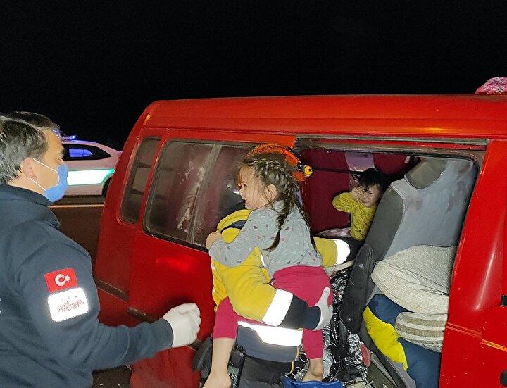 Kazada ilk önce Muahmmet Sezer, Gülseven Sezer, Ali Osman Kaplan, Ali Sezer ve Saliha Cengiz yaralandığı belirlendi.