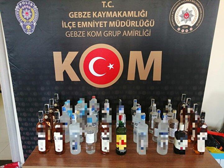 Operasyon kapsamında Kocaeli genelinde 115 iş yeri kontrol edilirken, bu iş yerlerinde 35 şişe sahte alkollü içki, 15 litre etil alkol ve 6 litre el yapımı içki ele geçirildi.
