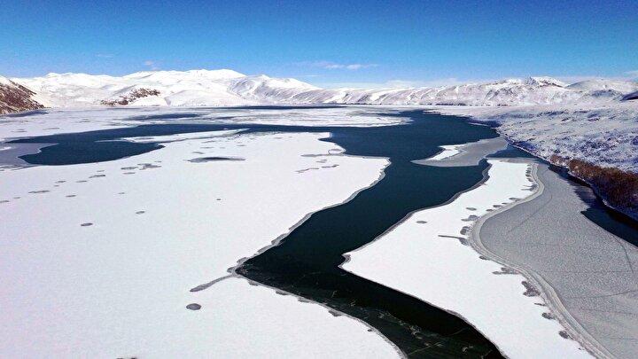 Hamurpet Gölü, yılın her döneminde farklı güzelliğe bürünüyor.
