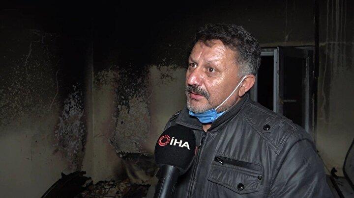 Yaşananları anlatan Remzi Kılınçkaya, annesinin kaldığı evde 9 kez çıkan yangının neden olduğunu bilmediklerini söyledi.