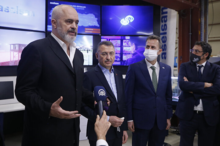 Cumhurbaşkanı Yardımcısı Fuat Oktay - Arnavutluk Başbakanı Edi Rama