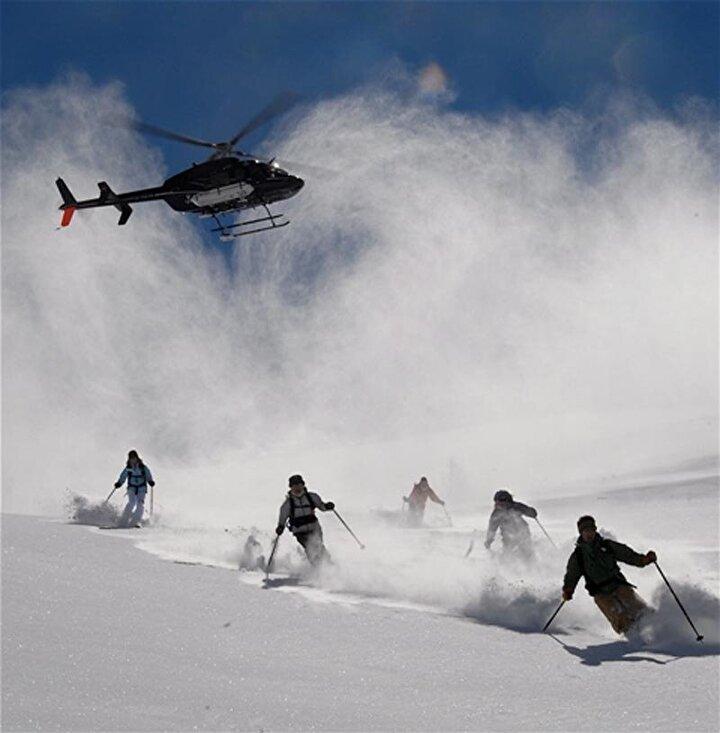 Rus kayakçılarında ilgi gösterdiği bölgede iki hafta sonra başlayacak helikopterle kayak sporu heliski için şimdiden rezervasyonlar doldu.