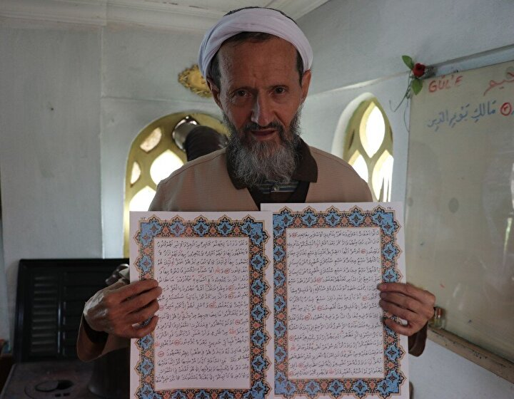 Cumhurbaşkanı Recep Tayyip Erdoğan için de Kur'an-ı Kerim yazdığını kaydeden Arslan, O ara herkes, 'Sağlık bakanına yazdın. Bunu reis duyar. Sen bir de reis için yaz' dediler. Kağıt verdiler. 2-3 ay içerisinde reis için de yazdım. O da bitti, şuan ciltleniyor. İnşallah o da bitince teslim ederler ifadelerini kullandı.