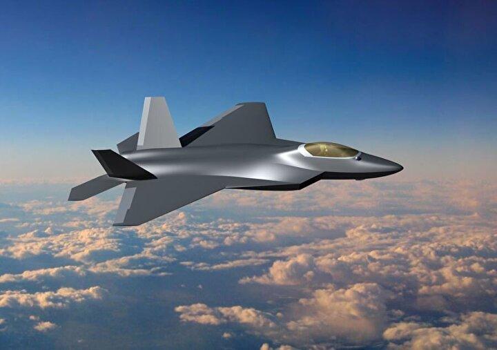 Sergilenen mock-up ile ortaya çıkan Milli Muharip Uçak, çift kuyruk, çift motor ve köşeli yapısıyla oldukça dikkat çekiyor.