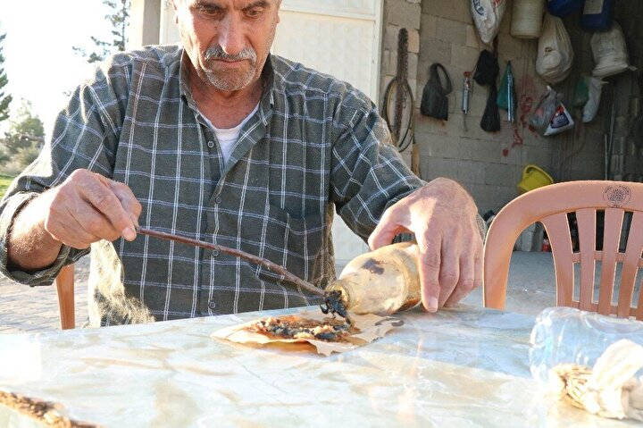 Gaziantepli 68 yaşındaki Mehmet Bozkurt 21 yıldır topladığı farklı ırk ve türden akrepleri zeytin yağı bulunan şişelerde saklıyor. Bu şişelerde akrebin zehrini sağan ve zeytin yağı ile karıştıran bozkurt, yüzyıllardır kullanılan bir yöntem ile akrep sokmaları vakalarında şifa umudu oluyor. Akrebin soktuğu bölgenin çevresine panzehiri uygulayan Bozkurt, zehirlenmeleri 30 dakikada iyileştiriyor.
