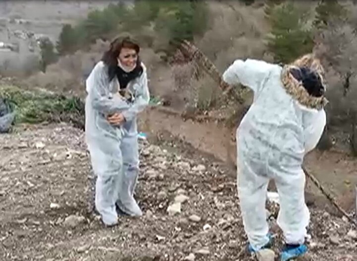 Haber verilmesi üzerine Doğa Koruma ve Milli Parklar 9ncu Bölge Müdürlüğü Ankara Şubesi ekipleri de alanda inceleme yaptı.