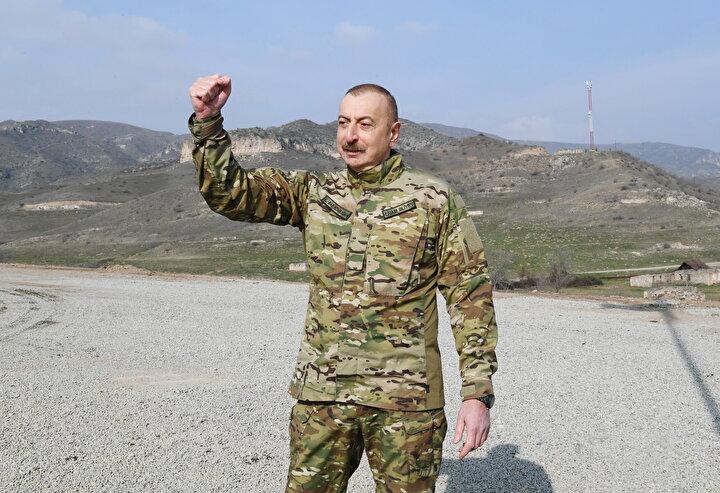 Aliyev, yasa dışı iskanın da savaş suçu olduğunu vurgulayarak, Düşman tüm bu savaş suçları nedeniyle hak ettiğini buldu. Uluslararası seviyede de hesap verecektir. dedi.