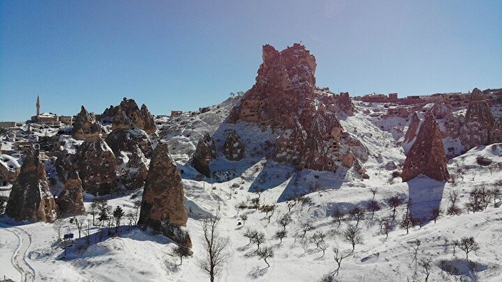 Masal diyarı Kapadokya havadan görüntülendi.