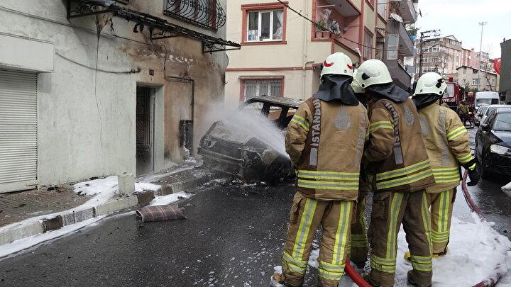 Doğal gaz kutusu da alev alınca tamamen yandı diye konuştu.