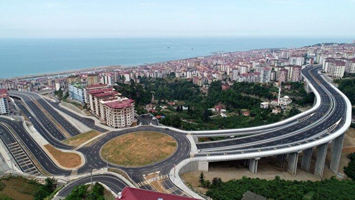 Böylece, 2020 yılı sonu itibari ile tamamlanan toplam 14,5 kilometre uzunluğundaki kesim sayesinde, Trabzon merkezinde nüfus yoğunluğunun yüksek olduğu Erdoğdu, Soğuksu, Aydınlıkevler, Uğurlu, Karşıyaka, Beşirli, Yıldızlı ve Akyazı bölgelerinde oluşan trafik, mevcut Yavuz Sultan Selim Bulvarı ve paralelinde sahilden geçen ana yollar olan mevcut Devlet Yolu ve Trabzon Sahil Geçişi Yoluna kısa mesafede güvenli bir şekilde dağılım imkanı sağlandı.