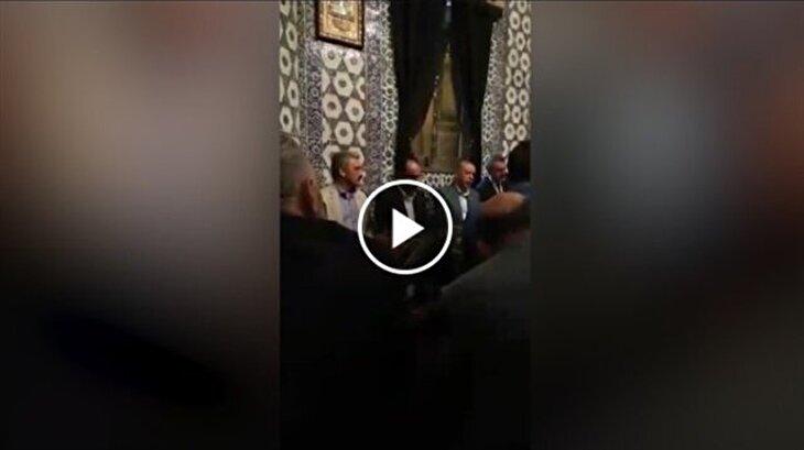 Cumhurbaşkanı Erdoğan, Eyüp Sultan'da Kur'an-ı Kerim okudu