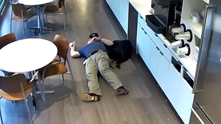 Sigorta şirketini 'kandırmaya' çalışan adam güvenlik kamerasına yakalandı