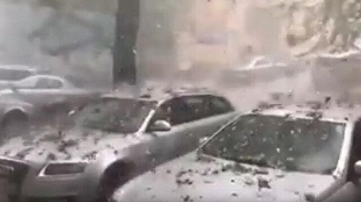 Romanya 'yaz'a şiddetli dolu yağışı ile merhaba dedi