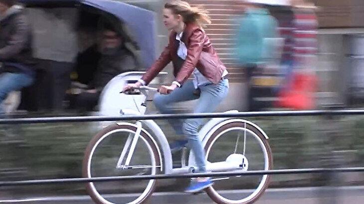 Zincirsiz, şaftlı, GPS'li elektrikli bisiklet satışa sunuldu