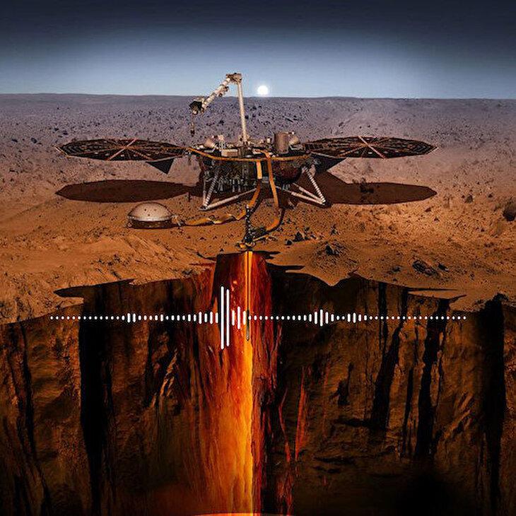 NASA Mars'ta gerçekleşen deprem seslerini yayınladı